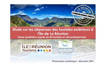 ETUDE SUR LES DÉPENSES DES TOURISTES EXTÉRIEURS À L'ÎLE DE LA RÉUNION