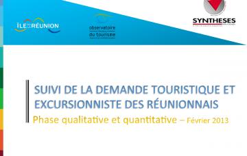 Demande touristique et excursionniste des Réunionnais
