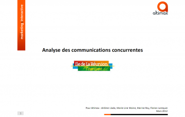 Etude sur les communications des destinations concurrentes