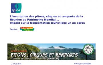L'inscription des pitons, cirques et remparts de La Réunion au Patrimoine Mondial... Impact sur la fréquentation touristique un an après - 1ère vague