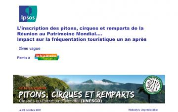 L'inscription des pitons, cirques et remparts de La Réunion au Patrimoine Mondial... Impact sur la fréquentation touristique un an après - 2ème vague