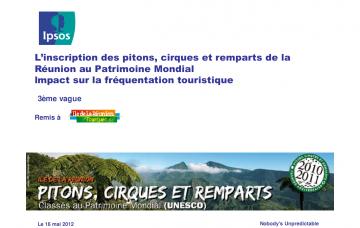 L'inscription des pitons, cirques et remparts de La Réunion au Patrimoine Mondial... Impact sur la fréquentation touristique - 3ème vague