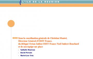 Plan de relance l'île de La Réunion