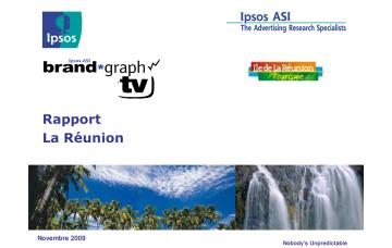 Rapport La Réunion Ipsos Post Test Campagne Métropole