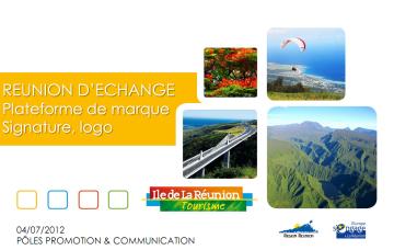 Réunion d'échange, Plateforme de marque, Signature, Logo