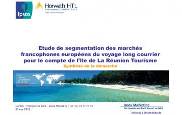 Etude de segmentation des marchés francophones européens du voyage long courrier - Synthèse